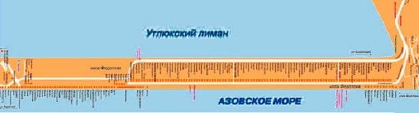Федотова коса база отдыха - карта баз Федотовой косы